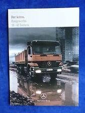 Mercedes-Benz Actros Baugewerbe 18 - 41 Tonnen - Prospekt Brochure 06.1999