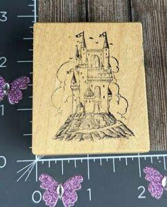 PSX Designs Castle Rubber Stamp E205 Fairy Tale Princess Wood #U137