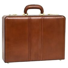 McKleinUSA Coughlin 80464 Brown Leather Expandable Attache Case