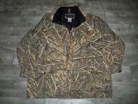 Men Field & Stream Hunting Jacket Mossy Oak Shadow Grass Camo Camouflage 2XLarge