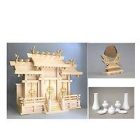Japanese KAMIDANA Buddhist Altar Fittings,Home Shrine Household Shinto MirrorSet