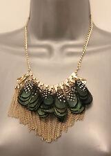 MONSOON ACCESSORISE  Feather Layered Short Elegant Necklace - Jewellery