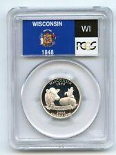 2004 S 25C Silver Wisconsin Quarter PCGS PR70DCAM