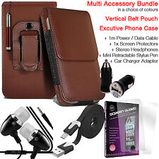Quality Vertical Belt Clip Pouch Holster Flip Case Holder✔Accessory Pack✔Brown