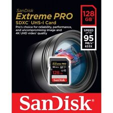 SanDisk 128GB  Extreme PRO SD SDXC Card 95MB/s Class 10 UHS-1 U3 4K Memory
