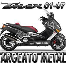 KIT ADESIVI DIAPASON GIGANTE TMAX YAMAHA 2001 2007 COLORE ARGENTO METAL NEW