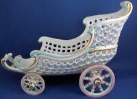 Antique Meissen Porcelain Reticulated Carriage Cart Porzellan Kutsche German