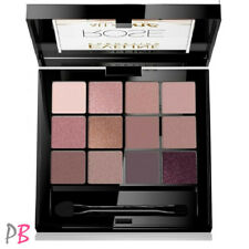 Eveline Eyeshadow Palette All in One Rose 12 Eyeshadows Nude Beige Shiny Matte