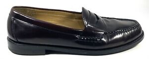 Cole Haan Men's Burgundy Leather Pinch Penny Loafers #03504 Size 8.5D