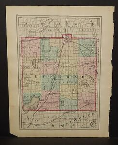 Wisconsin Jefferson or Waukesha County 1876 Single Pg Special Price! L14#76