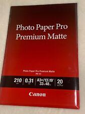 "CANON Photo Paper Pro Premium Matte 13"" x 19"" / A3+ (PM-101) 20 sheets"