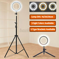 """6.3"""" Selfie Ring Light with Tripod Stand & Cell Phone Holder For Live"""