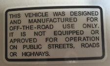 KAWASAKI KV75 Calcomanía de advertencia de precaución Cuadro para Bicicleta de Mono