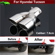 Twin Outlets Exhaust Muffler Tail Pipe Tip Tailpipe For Hyundai Tucson 2009-2018