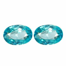 2.24 TCW IF 2pcs Natural Blue ZIRCON for Jewelry Setting Oval Cut 7.0x5.0mm