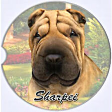 E&S Pets Absorbent Car Coaster Dog Breed Stoneware Sharpei Shar Pei Puppy