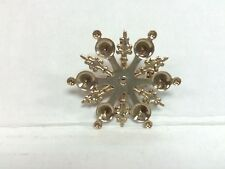 Brooch pin settings blanks gold plated patina to personalize lot of 10