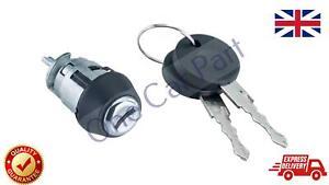 Ignition Lock Barrel +2  Keys Fits VW Mk1 Mk2 Golf Polo Mk1 Golf Caddy Scirocco