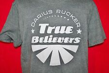 DARIUS RUCKER 2013 True Believers Concert Tour Poly Cotton Gray T-SHIRT Large