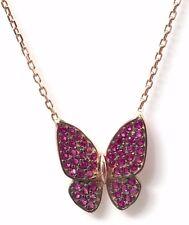 .925 Sterling Silver Women's Butterfly Pendant Necklace - US Seller SK009