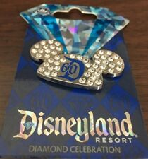 Disneyland 60th Anniversary Diamond Celebration Mickey Ears Hat Trading Pin See