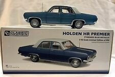 37514 HR PREMIER HOLDEN PYRENEES METALLIC BLUE DIE CAST MODEL CAR 1:18