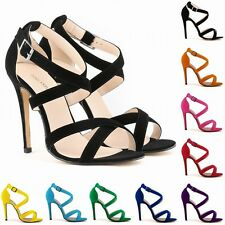 Women High Heels Summer Pump Ankle Strap Stilettos Sandals ladies Open Toe Shoes