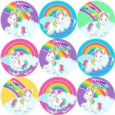 144 Phonics Unicorns 30mm Reward Stickers for School Teachers, Parents, Nursery