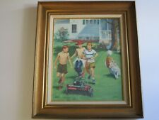 FINEST CAROL JOHNSON PAINTING BEACH URBAN REGIONALISM MOD NEW YORK AMERICANA