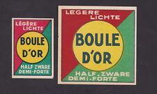 Ancienne étiquette Allumettes Belgique BN24839 Cigarettes Boule D'Or