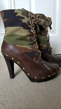 Michael Kors Camouflage High Heel Boots UK5