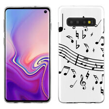 TPU Phone Case for Samsung Galaxy S10 - Music Notes / White
