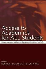 Access To Academics for All Students: Critical Approaches To Inclusive-ExLibrary