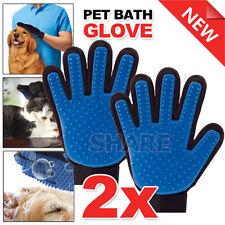 2x Pet Grooming Bath Magic Glove Cat Dog Hair Massage Mitt Cleaning Comb Brush