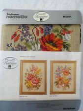 Creative Boutique Needlepoint Flowers Kit Canvas Yarn Germany Schachenmayer