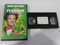 FLUBBER Y EL PROFESOR CHIFLADO ROBIN WILLIAMS VHS TAPE WALT DISNEY ESPAÑOL