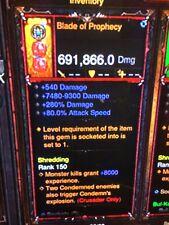 Diablo 3 puce Primal ancienne arme lame de Prophétie plus DPS XBOX ONE