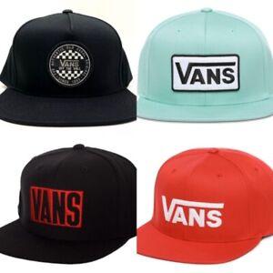 "VANS ""OFF THE WALL"" Snapback Baseball Cap Hat Official Black Red Green OG"