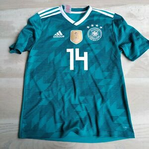 Goretzka Germany Away football shirt 2018 - 2019 Adidas BR3146 Young Size L UA1