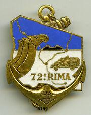 Insigne troupes de marine , 72  RIMA.