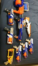 Nerf Gun Lot 30 Darts, SurgeFire, Disrupters, Rampage W/ Scope, Strongarms, Xtra