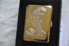 Cigarette Case Metal 24K Gold Plated Ford Mustang Shelby Cobra GT500 Car Logo