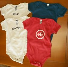 Lot Of 4 Short Sleeve Cotton Baby One Piece 3-6 Months Shop Positive Energy +E