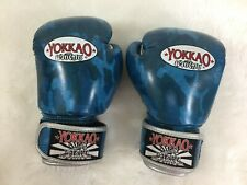Yokkao 8 oz Muay Thai Boxing Premium Leather Gloves Sparring Kickboxing **READ