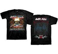 OVERKILL - Thrash Of America - T SHIRT S-M-L-XL Brand New - Official T Shirt