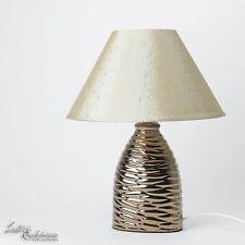 Elegante Tischlampe in braun Tischleuchte Nachttischleuchte Nachttischlampe