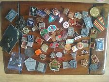 More details for soviet cold war memorabilia an interesting collection of badges medals and stick