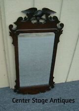 61236 Antique Mahogany Mirror with Eagle on top