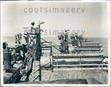 1943 Stratford Texas Wheat Farmers With Combines Press Photo