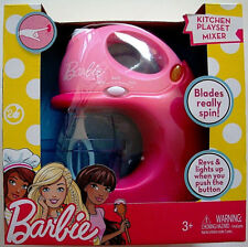 BARBIE,ELECTRONIC MIXER KITCHEN PLAYSET,REVS & LIGHTS UP,BLADES SPIN,KIDS 3+,NEW